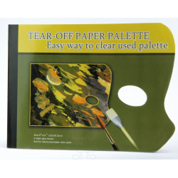 Malpalette aus Papier