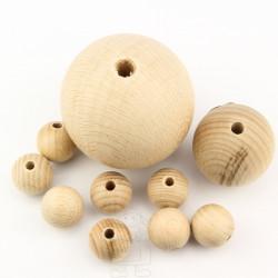 Holzkugeln Gebohrt Natur